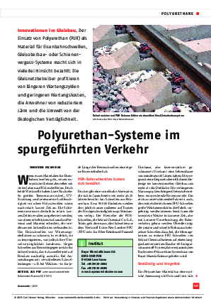 Innovationen im Gleisbau: Polyurethan-Systeme im spurgeführten Verkehr