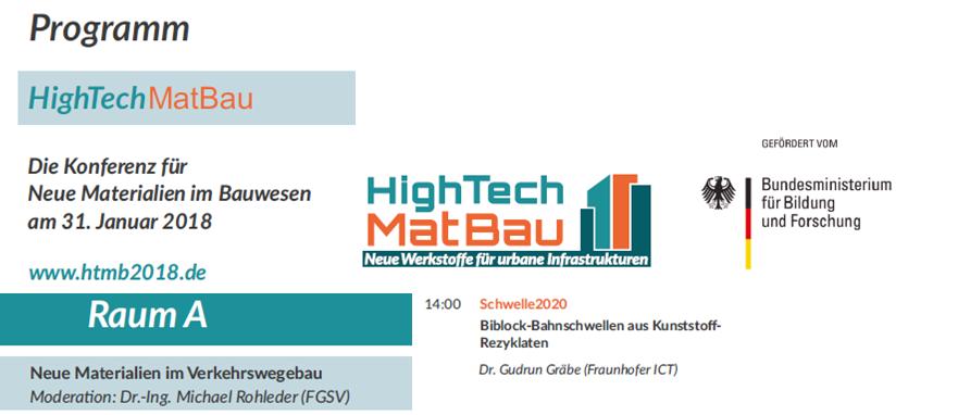 """HighTechMatBau 2018 – Konferenz-Beitrag """"Schwelle 2020"""""""