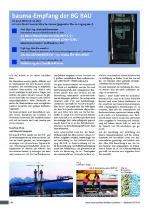 Nominierung des Gleisoberbausystems DURFLEX® für den Innovationspreis 2010 in der Kategorie Bauverfahren/Bauwerk