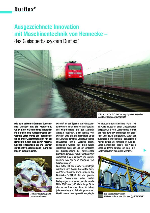 Ausgezeichnete Innovationen – das Gleisoberbausystem DURFLEX®