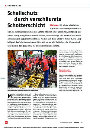 Gleisbau: Schallschutz durch verschäumte Schotterschicht